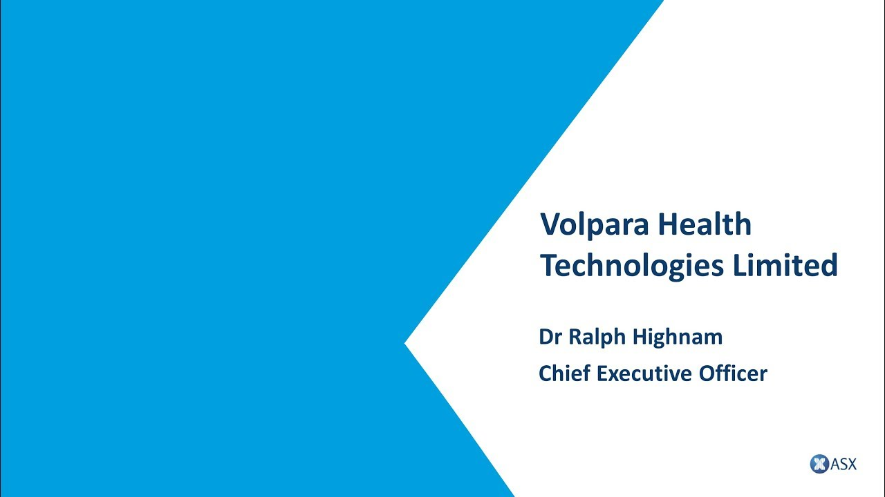 ASX Small and Mid-Cap Conference - Volpara Health ...