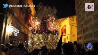 Foto del misterio de la Oración en el Huerto de Linares procesionando por la calle Rosario
