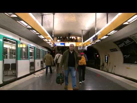 Paris Underground Metro Station - Free Royalty Footage