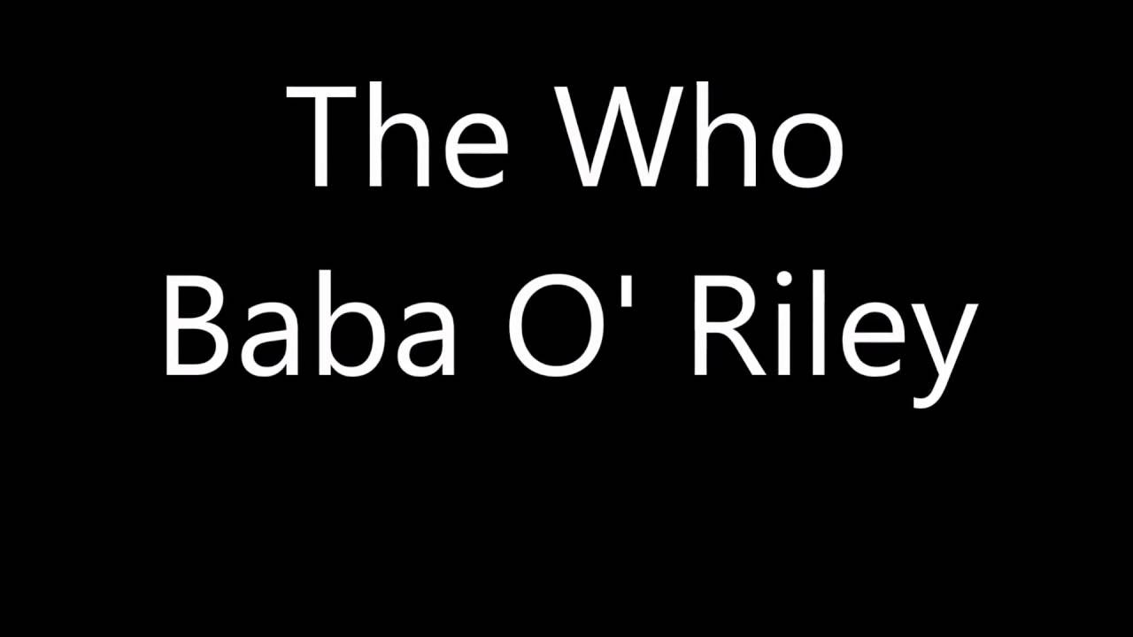 The Who - Baba O' Riley lyrics