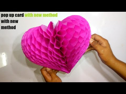 DIY Flower Pop Up Card Paper Crafts-Handmade Craft - Very Easy - Step By Step (Tutorial)