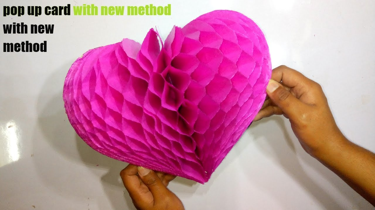 Diy Flower Pop Up Card Paper Crafts Handmade Craft Very Easy Step By Tutorial