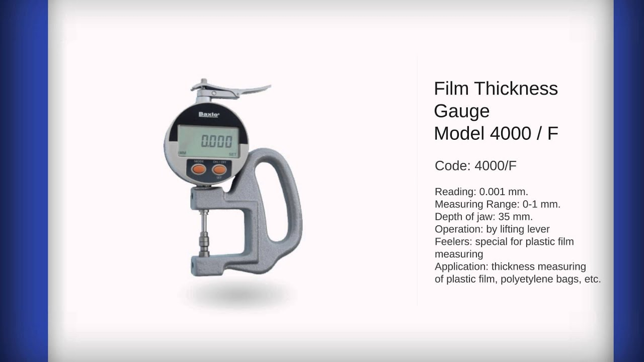 Baxlo Plastic Film Thickness Gauge En Youtube