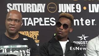 jermall charlo gets heated walks out of presser i whipped trout a esnews boxing
