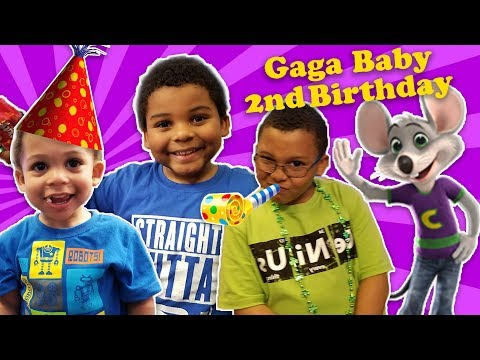 GAGA鈥橲 BABY 2nd BIRTHDAY! Toys R Us & Chuck E Cheese Celebration
