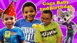 GAGA'S BABY 2nd BIRTHDAY! Toys R Us & Chuck E Cheese Celebration