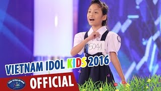 vietnam idol kids - than tuong am nhac nhi 2016 - biet on chi vo thi sau