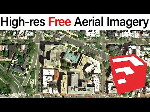 High Resolution Free Aerial Imagery In SketchUp
