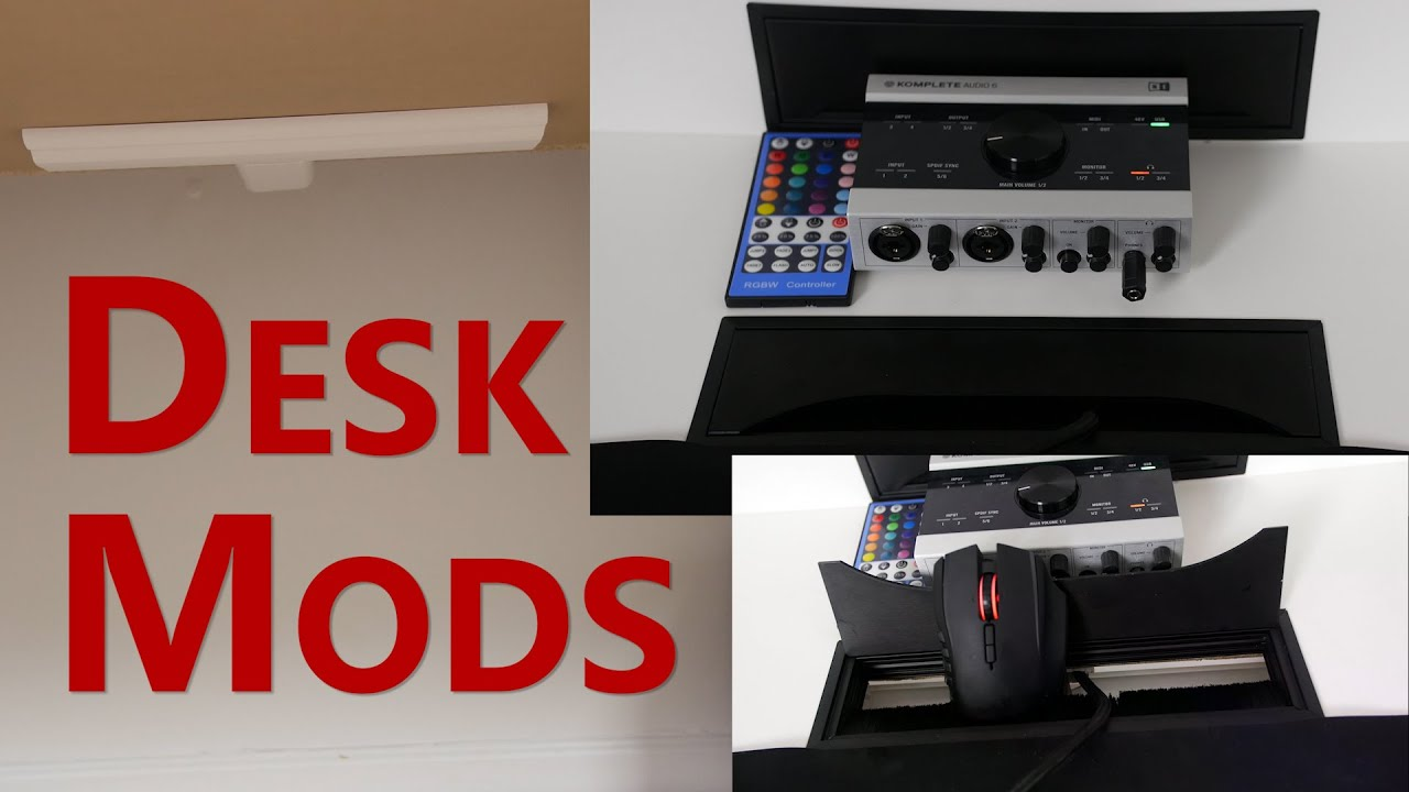 Desk Mods 1 Extreme Cable Management You Rh Com Desktop Tips Pc