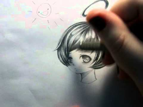 Tutorial how i draw and shade hair with graphite pencil part 2