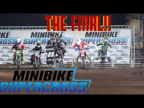CRAZY PITBIKE SUPERCROSS TRACK / RACE DAY AT DIRT BIKE SHOW PART 3!!
