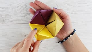 How to make Amazing Paper Toy without Glue | DIY Origami Hexaflexagon