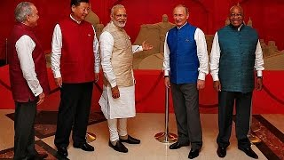 From youtube.com: The leaders of the so-called BRICS nations - Brazil, Russia, India, China and South Africa - met {MID-148616}