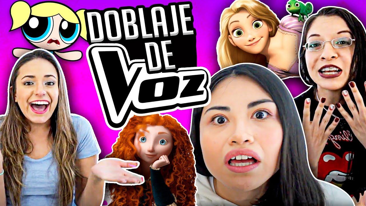 IMITANDO VOCES 🐞 LADYBUG, RAPUNZEL y MÁS! 💖 DOBLAJE DE CARICATURAS! - Vloggeras Fantásticas