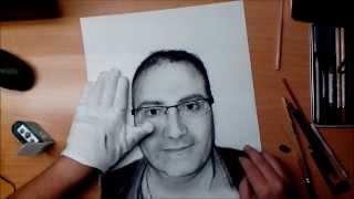 Retrato a carboncillo - Drawing Portrait Charcoal - ILgrafics