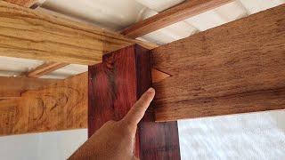 Brilhante Ideia Madeira e Cimento Acabamento do Telhado/Idea Wood and Cement