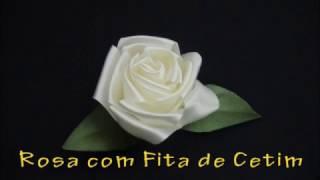 Rosa de Fita de Cetim – Passo a Passo