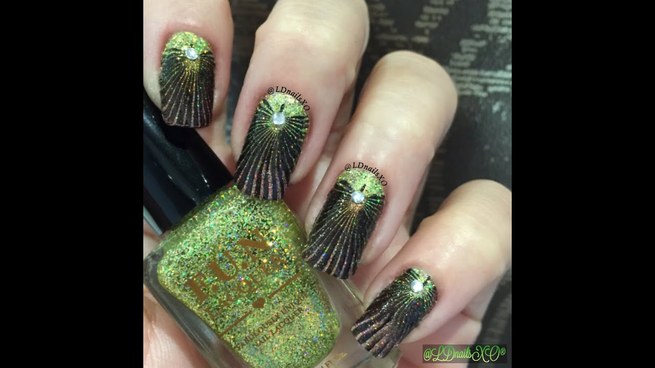 Holo-Gradient Nails - using FUN LACQUER and Nail Art Stamping ...