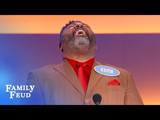 Meet Keith... the BABY of the Young family? | Family Feud