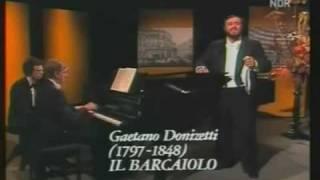 Luciano Pavarotti / Donizetti / il Barcaiolo / Rossini / La Danza 1978