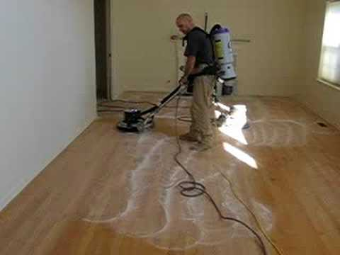Dustless Buffing Hardwood Floors Youtube