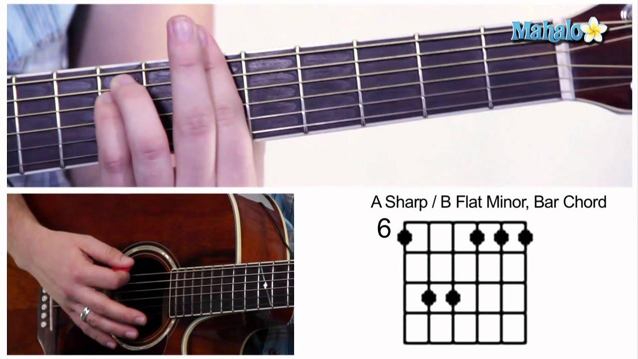 How To Play An A Sharp B Flat Minor Am Bbm Bar Chord On