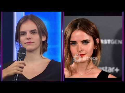 Vino una chica igual a Emma Watson ¡El parecido es soprendente!
