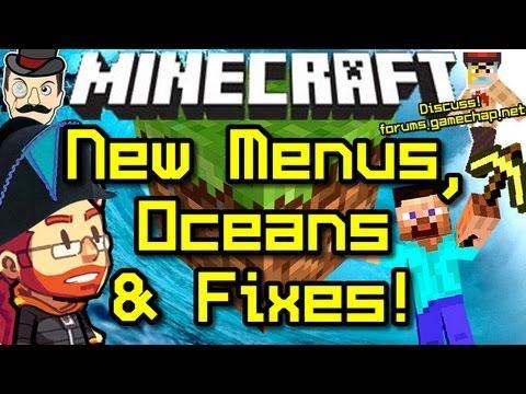 Minecraft News MENUS, Ocean Tweaks & OVERHAUL!