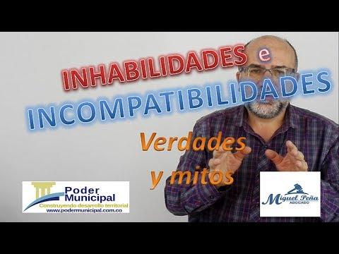 Inhabilidades e incompatibilidades. Verdades y mitos