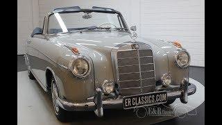 Mercedes-Benz 220 SE cabriolet Ponton 1960  -VIDEO- www.ERclassics.com