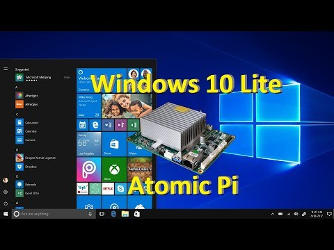 Atomic Pi - Install Windows 10 Lite + Install Drivers + Directx