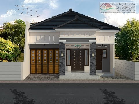 Rumah Minimalis Lantai 1_Modern House (8x14)