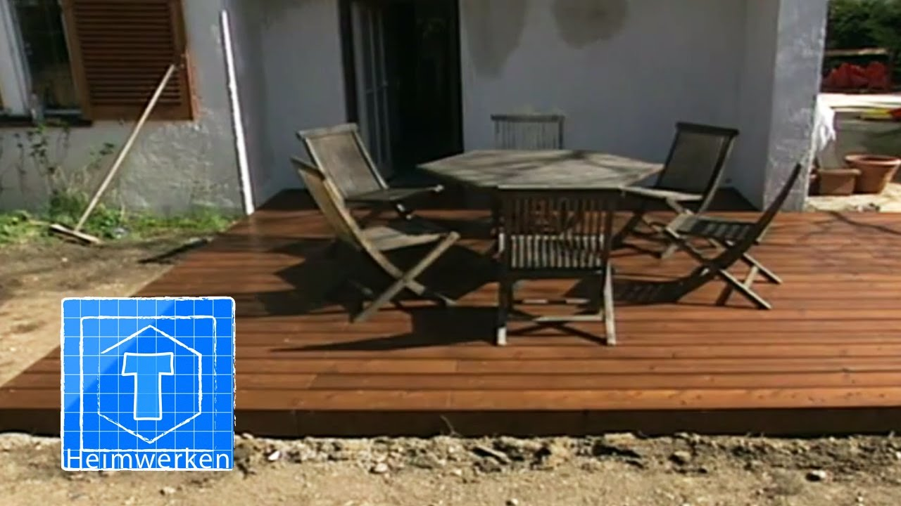 holz terrasse selber bauen tooltown heimwerken youtube. Black Bedroom Furniture Sets. Home Design Ideas