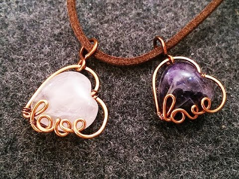 pendant with heart stone how to make handmade jewelry 3 youtube. Black Bedroom Furniture Sets. Home Design Ideas