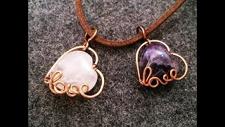 pendant with heart stone - How to make handmade jewelry 3