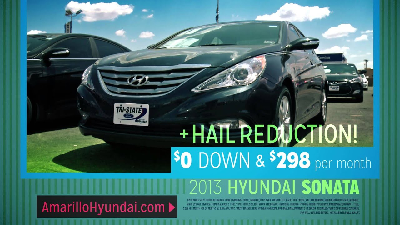 Amarillo Hyundai in Amarillo TX Hail Sale Sonata