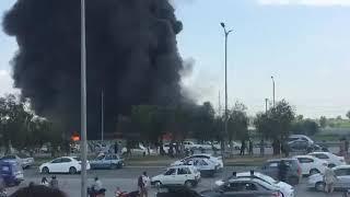 Fire emergency at pashwarmor at Islamabad