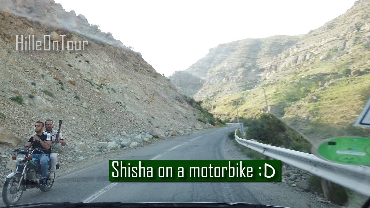 You can see only in Iran - Shisha on Motorbike