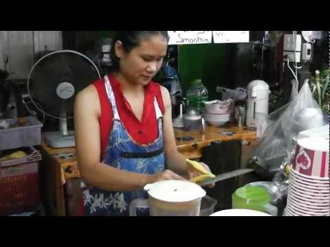 Tip's Best Fresh Fruit Smoothies - Chiang Mai, Thailand