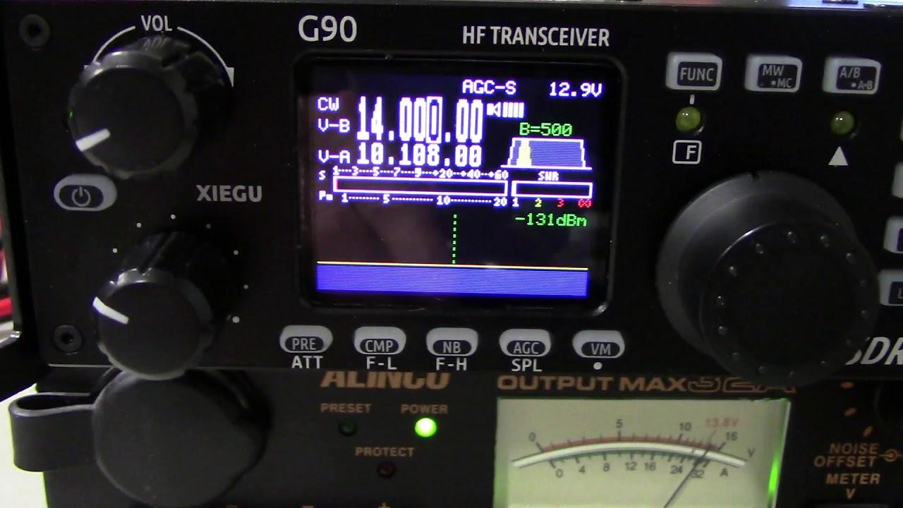 Xiegu G90 HF Transceiver RF output measurements Feb 2019