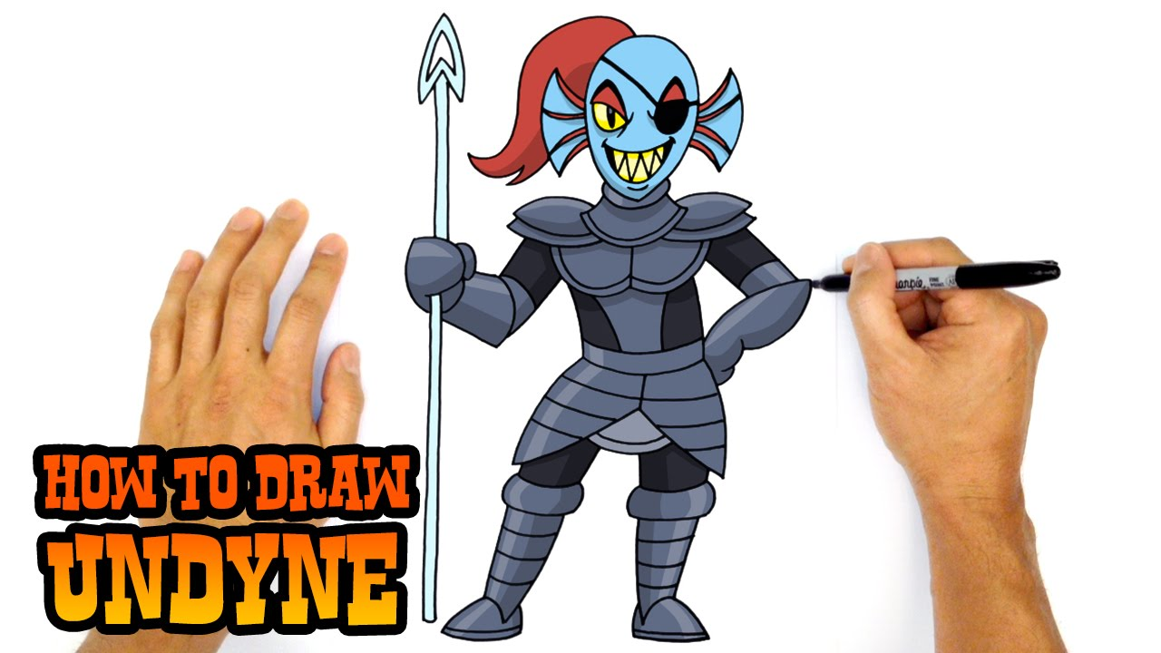 How to Draw Undyne Undertale YouTube