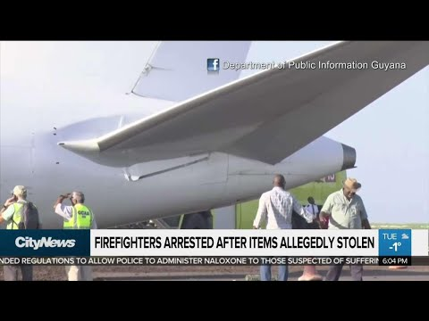 Firefighters accused of stealing from plane that crash-landed in Guyana