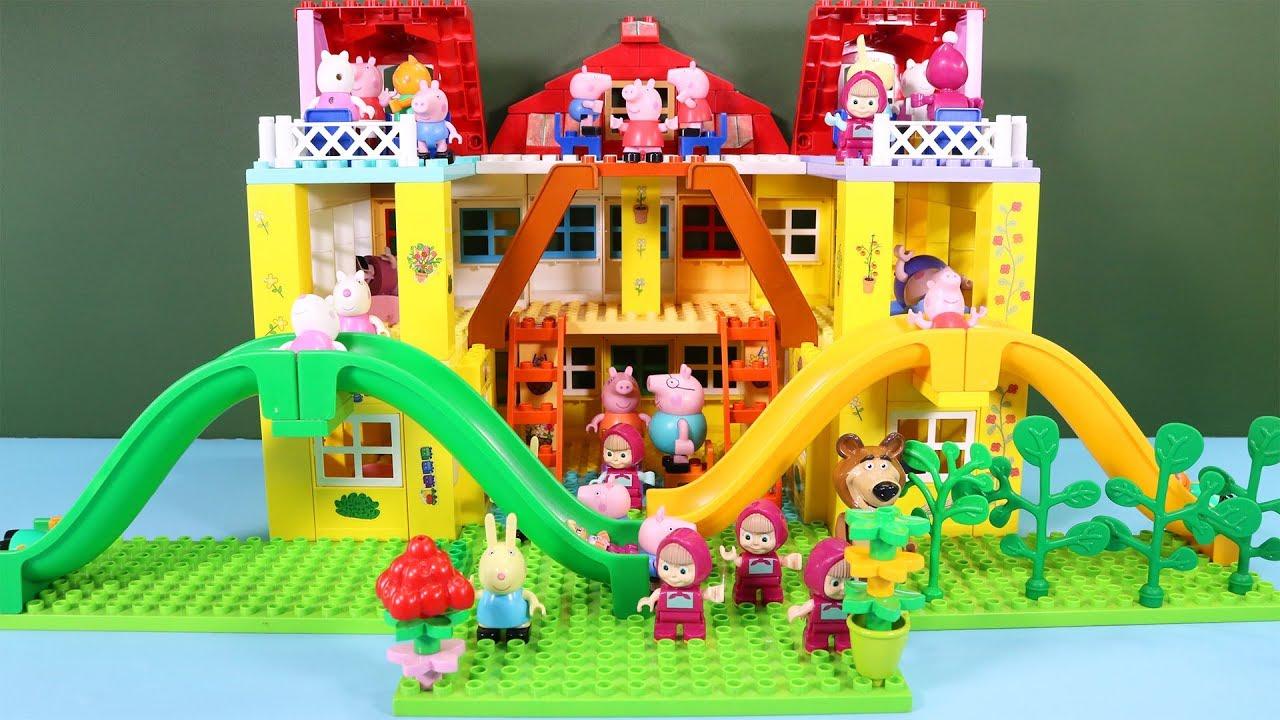 Peppa Pig Blocks Mega House Construction Sets Lego Duplo House