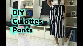 How to make Culottes Pants| DIY |  Super Easy| For Beginners