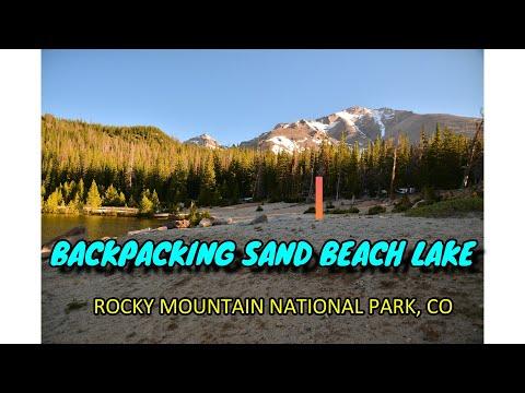 Sandbeach Lake Backpacking, Rocky Mountain National Park