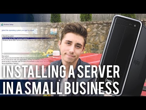 Installing A Server In A Small Business Part 1 Youtube