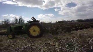 John Deere 2510 plowing