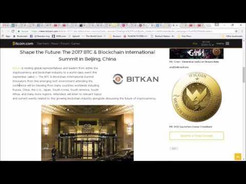 Bitkan Announces the 2017 BTC & Blockchain International Summit