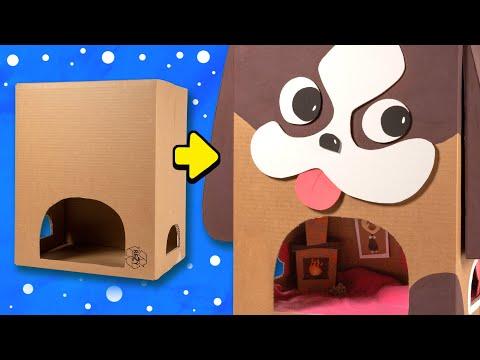 DIY Dog House | Box Xmas ⭐ Christmas Crafts, Gift Ideas for Pets