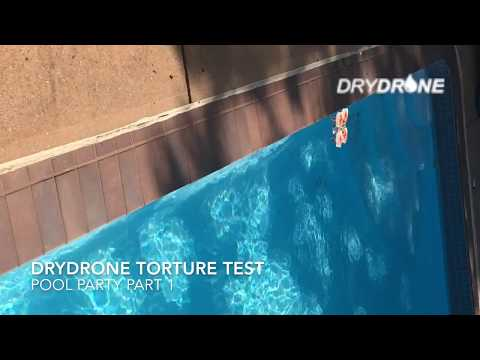 DryDrone Drone Waterproofing torture test Pool Party #1